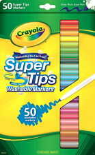 Crayola Super Tips Washable Markers, Assorted Colors, Set of 50