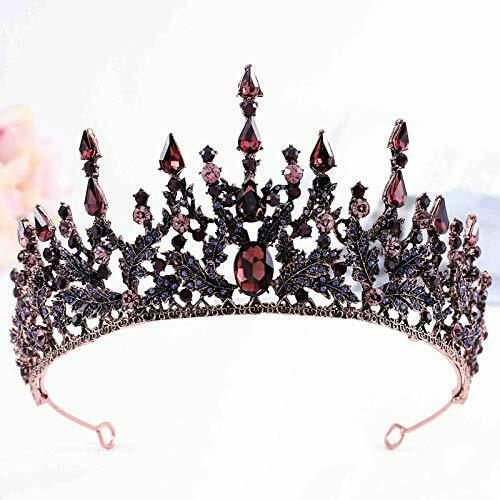 Florry Baroque Crowns Crystal Tiaras and Crowns Wedding Queen Crowns for Brid...