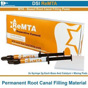 DSI Dental RE MTA endodontico GEL canale radicolare Riparazione Materiale Di Riempimento 2 x 2g
