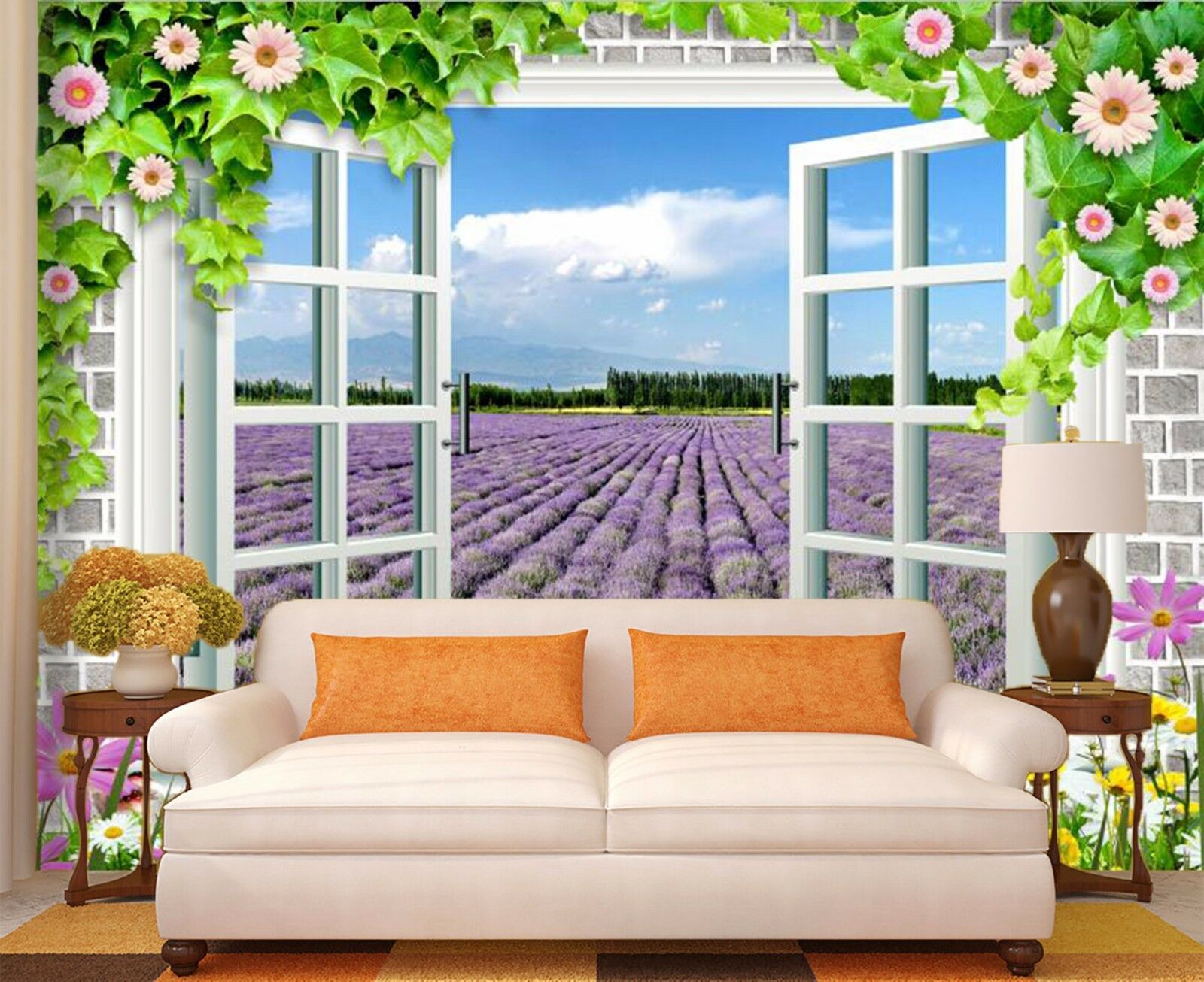 3D Purple flower 3523 Wall Paper Wall Print Decal Wall Indoor Murals Wall US