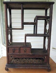 rare chinese antique tabletop display curio 18 w by 26 t ebay rh ebay com