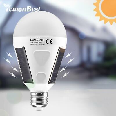 Portable LED Solar Rechargeable Emergency Light Bulb 12W 6500K