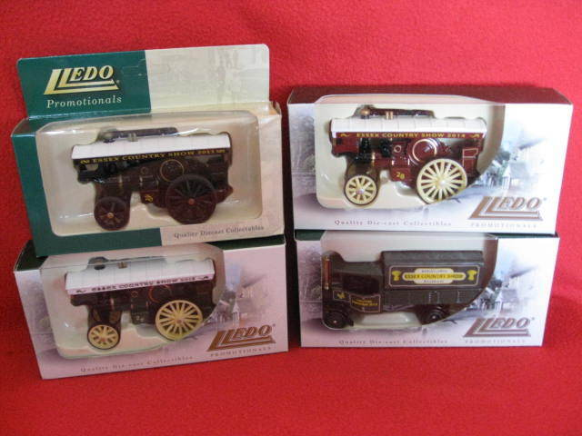 4 x Lledo - Essex County Show - Quality Diecast Models 2011, 2012, 2013 & 2014.