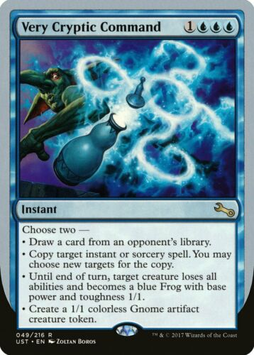c Draw Very Cryptic Command Unstable NM Blue Rare MAGIC MTG CARD ABUGames