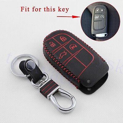 4 Buttons Key Case For Cherokee Compass Chrysler 300C Key Bag Holder Fob  Shell | eBay