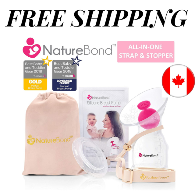 NatureBond Silicone Breastfeeding Manual Breast Pump Milk Saver Suction | All-In