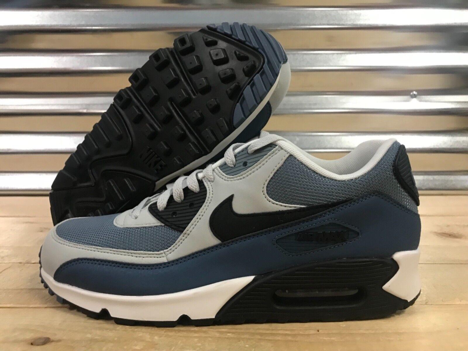 Nike Air Max 90 Essential Running shoes Grey Slate bluee Black SZ ( 537384-042 )