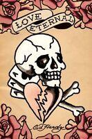 Ed Hardy Love Eternal 24x36 Art Poster Tattoo New/rolled