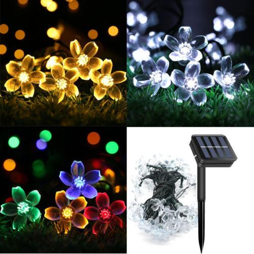 50 LED impermeabile solare stringa luci bulbi FIORI da GIARDINO FESTA MATRIMONIO