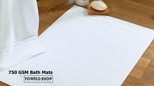 Spa B/&B Bath Mats White750 GSMPicture Frame DesignPerfect for Hotels