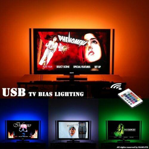 1M 5V RGB LED Strip Light Colour Change USB KIT Background Lighting TV PC Laptop