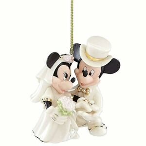 NIB-Lenox-Disney-Mickey-and-Minnie-Wedding-Christmas-Ornament