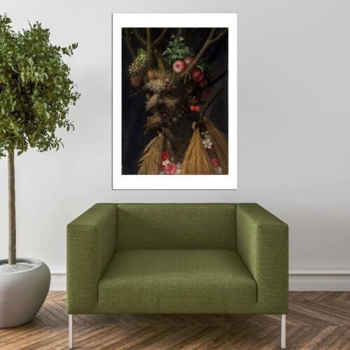 Four Seasons In One Head Wall Art Poster Print Giuseppe Arcimboldo