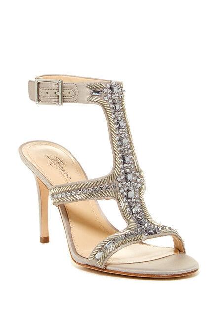 Imagine Vince Camuto Price Women's Beaded T-Strap Sandal, Sandal, Sandal, Stone Satin 354d04