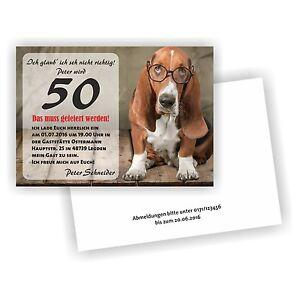 Das Bild Wird Geladen Einladung  Geburtstag Hund Mit Brille L Einladungskarten Spass