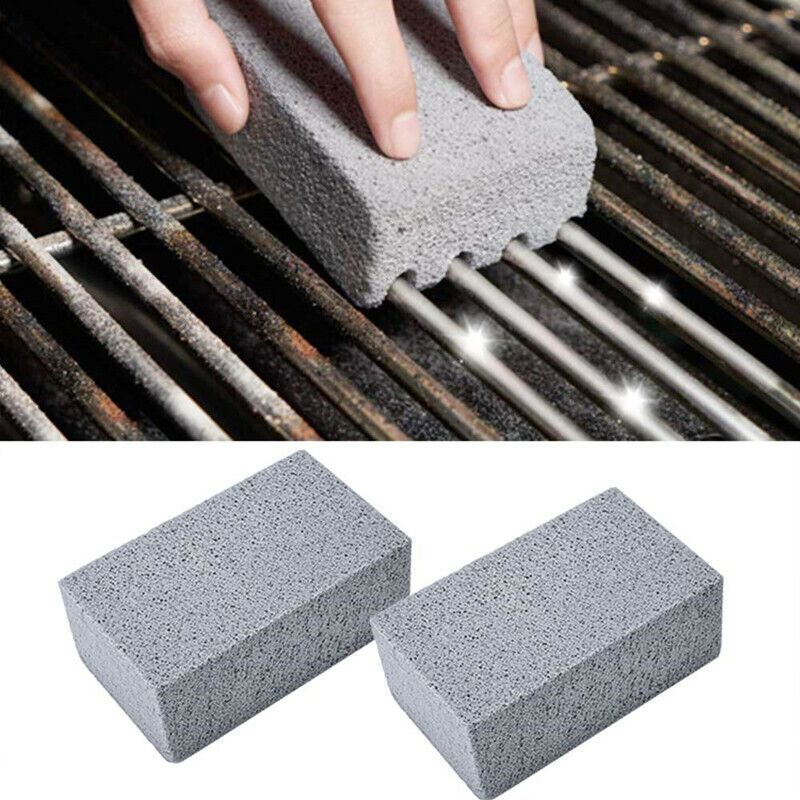 2Pcs BBQ Grill Cleaning Brick Block Stains Grease Cleaning Stone BBQ Tool Brushs