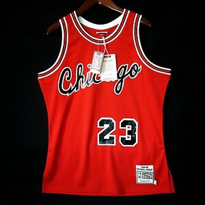 lowest price 8ef45 27045 100% Authentic Michael Jordan Mitchell & Ness Bulls Rookie ...
