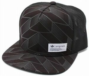 6ad02666 ... netherlands image is loading adidas blue label trucker cap black white  trefoil e3a7b f26a0