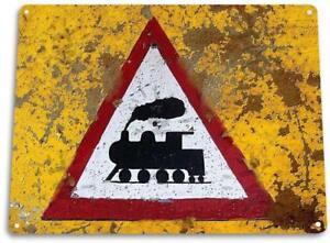 Train-Warning-034-Rail-Road-Street-Decor-Crossing-Station-Sign