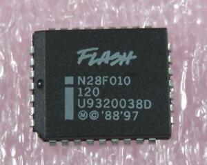 CMOS 64K x 8 5PCS AN28F010-120 PLCC32,512K
