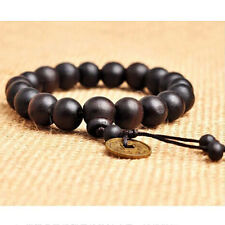 1PC Wood Buddha Buddhist Prayer Beads Tibet Mala Wrist Bracelet  Men Gift