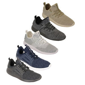Mens-Trainers-Crosshatch-Jogging-Shoes-Lace-Up-Walking-Running-Sports-Gym-New