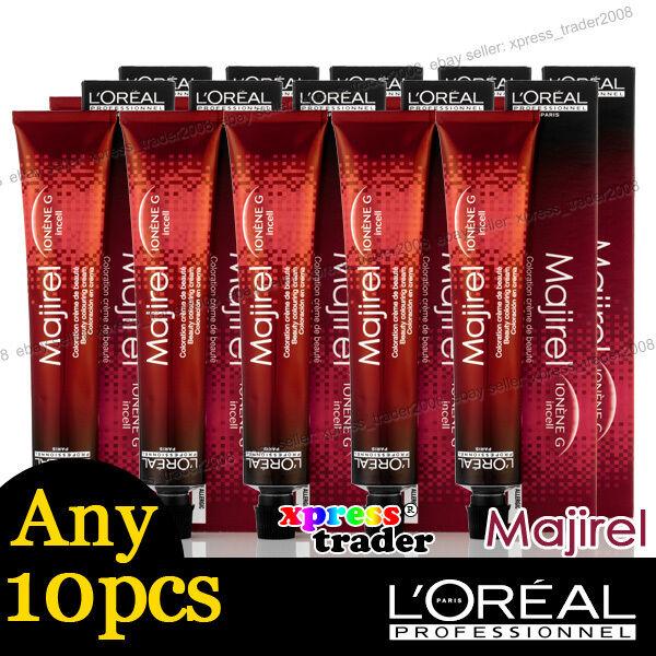 Any 10pcs L'Oreal Majirel Loreal Permanent Colour Hair Dye 50ml