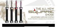 Brand & Authentic Square E-hose 2.0 Portable Electronic Handheld Hookah