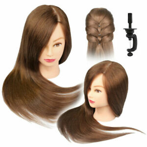26-034-100-Human-Hairdressing-Training-Head-Hair-Mannequin-Model-Doll-Clamp