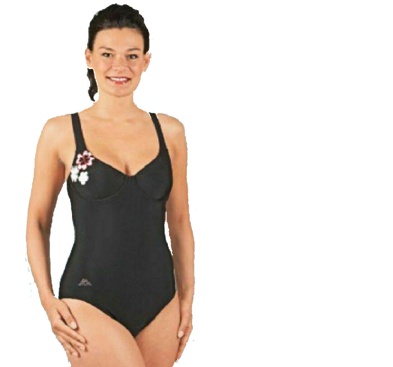 Kappa Womens Swimsuit Black Swimming Suit Underwired Onesie Size XXL/XL or L