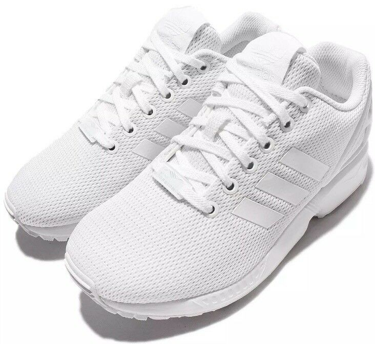 Adidas Men Zx Flux Triple White Casual Shoes Comfortable Great discount