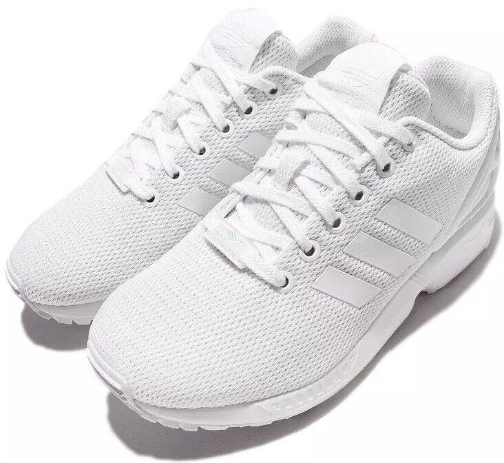 Adidas Men Zx Flux Triple White Casual Shoes Size 9 S32277