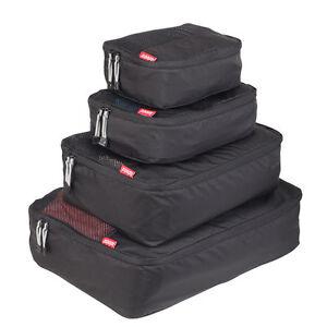 Zoomlite Packing Cubes 4 pc Set (Black) - Travel Luggage Organiser