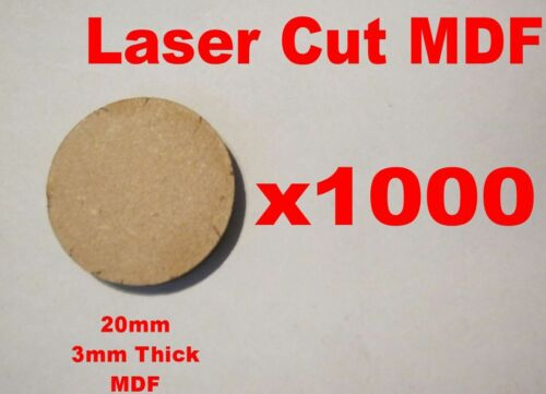 20mm Circle Round Bases in Laser Cut 3mm MDF Frost Grave Bolt Action Infinity