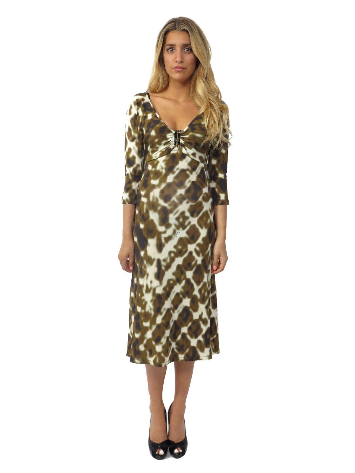 JUST CAVALLI Printed Printed Printed Dress (SIZE 40) fe1bd5