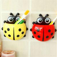 Ladybug Toothbrush Wall Suction Bathroom Sets Cartoon Sucker Toothbrush Holder R