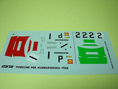 Stickers, Decals & Iron-ons The Cheapest Price Decalcomanies Porsche 908 Nurburgring 1968 Starter 1/43 Neuf Delicious In Taste