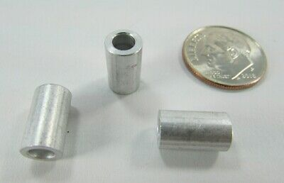 Aluminum Spacer 7//16 OD x 1//4 ID x 1 L 100 Round by Metal Spacers Online