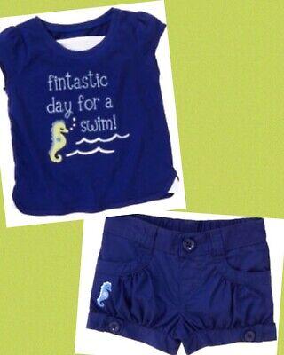 GYMBOREE Greek Isle Style Shorts Size 4 New Navy Blue Bermuda Girls Summer Twins