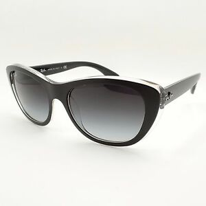 178e0620a7b Ray Ban 4227 6052 8G 55mm Matte Black on Transparent New Authentic ...