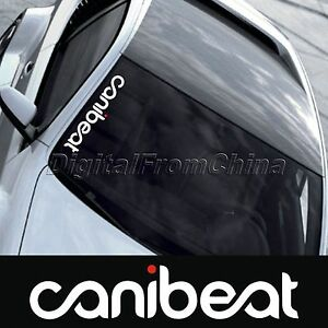 Reflective Funny Hellaflush Canibeat Car Front Windshield Window - Front window stickers for car
