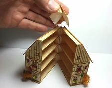 Montiert H16095M 7,7 cm scale 1/144 POCKET BABY HOUSE Dachgaube