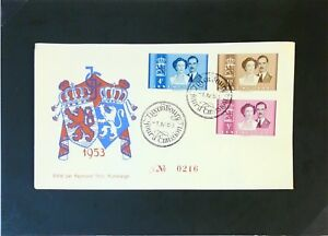 LUXEMBOURG-1953-Royal-Serie-FDC-2-Z3169