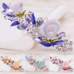 Women-Girls-Crystal-Barrette-Rhinestone-Flower-Hair-Clip-Clamp-Hairpin-Headwear