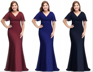 Evening-Long-Prom-Dress-Formal-Party-Ball-Gown-Bridesmaid-Mother-Gown-Plus-Size