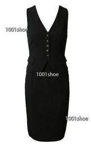 new-RRP-140-JACQUI-E-BLACK-VEST-BUSINESS-DRESS-18-more-sz-in-store