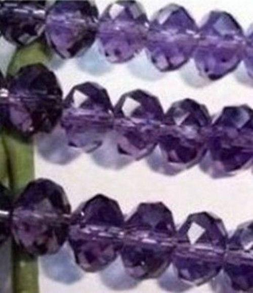 70pcs Crystal Loose Beads 6X8mm Deep purple A14