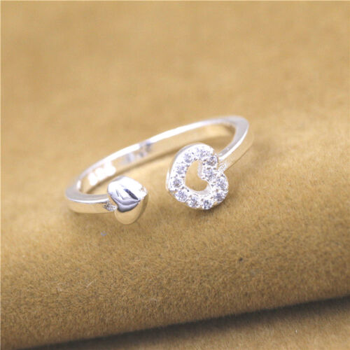925 solide Argent sterling plaqué femmes//hommes New Fashion Ring Cadeau Taille Ouvert HJ192