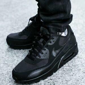 Nike-Air-Max-90-Essential-Black-Hommes-Chaussures-Hommes-Chaussures-De-Sport-537384-090-Top