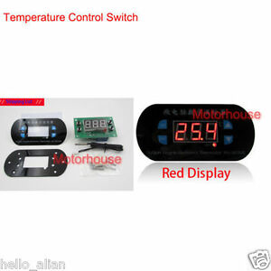 DC 12V Adjustable Digital Computer Thermostat Temperature Controller Switch Red